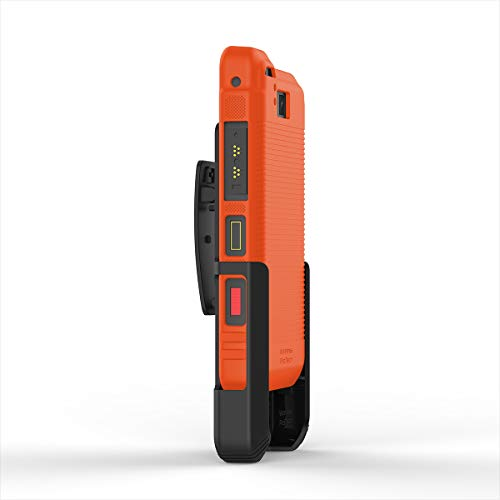 Wireless ProTECH Belt Clip Holster and TPU Shell Combo Compatible with Sonim XP8 XP8800 (Orange)