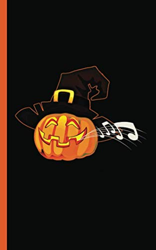 Halloween Music Pumpkin Musician Journal - Notebook: Cute