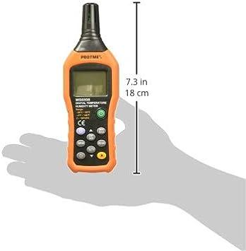 Protmex Digital Temperature Humidity Meter Digital Psychrometer Thermometer Hygrometer Humidity Monitor with Temperature Gauge Humidity Meter with Dew Point and Wet Bulb Temperature