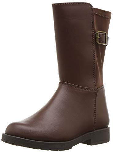 Chestnut Brown Boots - Stride Rite Willow Girl's Lightweight Riding Boot Fashion, Brown, 11 M US Little Kid