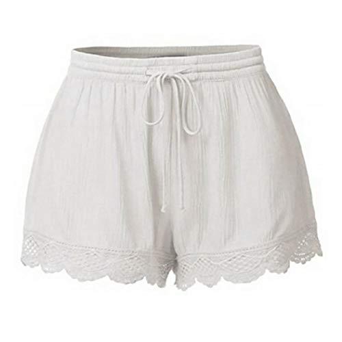 - BODOAO Women Plus Size Rope Tie Shorts Yoga Sport Pants Leggings Trousers