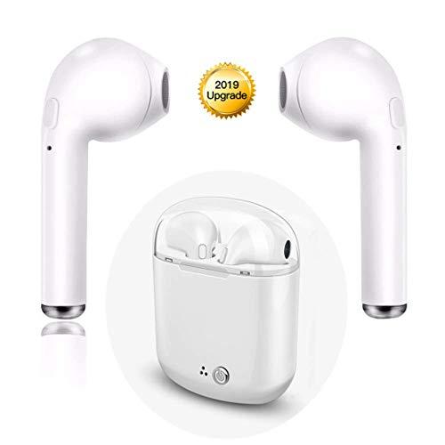 Bluetooth Kopfhörer, kabelloses Kopfhörer, HI-FI-Rauschunterdrückung, Sport-Kopfhörer mit tragbarer Ladebox und Mikrofon, kompatibel mit Samsung Android/iOS und Allen Bluetooth-Geräten (Weiß)