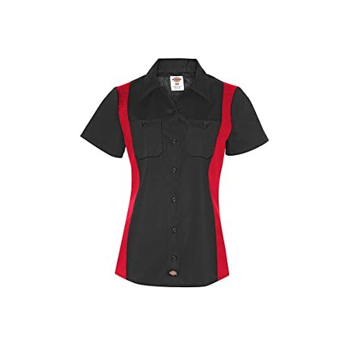 Wholesale Dickies Women's Industrial Short Sleeve Color Block Shirt for sale
