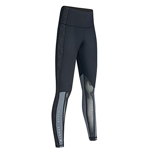 Pantaloni 01 Vita Sports Da Yoga Nero Fitness Wicking Strechy Womens Alta Leggings Corsa q7Cwcp8