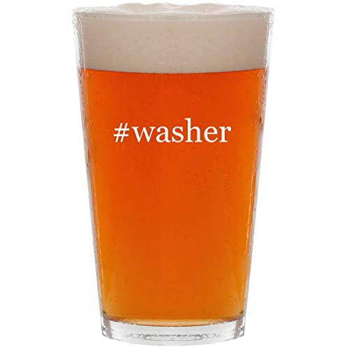 #washer - 16oz Hashtag Pint Beer Glass