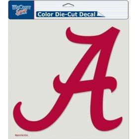 Alabama Crimson Tide Decals (NCAA Alabama Crimson Tide Die-Cut Color Decal, 8