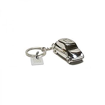 Llavero de metal para Fiat 500 con LED: Amazon.es: Coche y moto