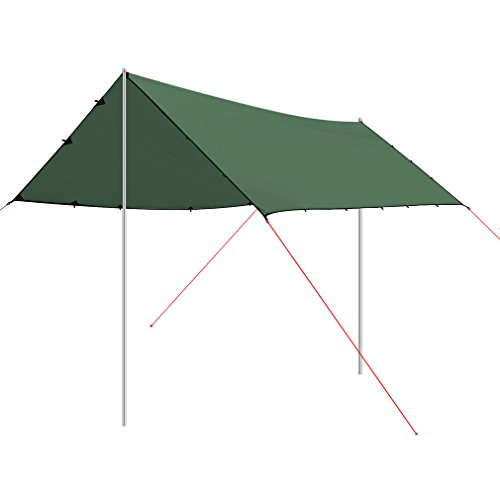OUTAD Sun Shelters 4.5x6 Meters Ultra-light 40D Silicon Coating Sun Shade Sail for Outdoor (Dark (Carport Deluxe Shelter)