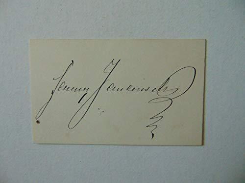 """RARE!""""Czech Actress"""" Fanny Janauschek Hand Signed 2X3.25 Card Todd Mueller COA from Unknown"""