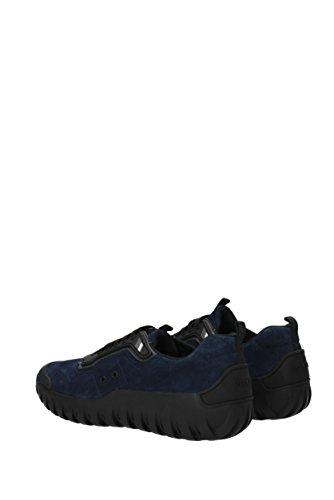 4e3098 Eu Prada Suède Homme Sneakers Bleu Sqf18