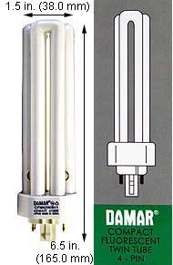(Case of 10) Triple Twin Tube Compact Fluorescent Lamps | CFM42W/GX24Q-4/841 42 Watt Triple 4-Pin 4100K GX24Q-4 Base