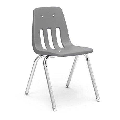 (Virco Student Chair, Gray, Soft Plastic Shell, 18