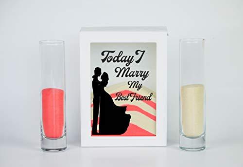 (Streamside Shoppe Sand Ceremony Set, Today I Marry My Best Friend, Shadow Box Wedding, Vow Renewal, Unity Sand Ceremony Set, Beach Wedding Decor, Unity Candle Set, Destination)