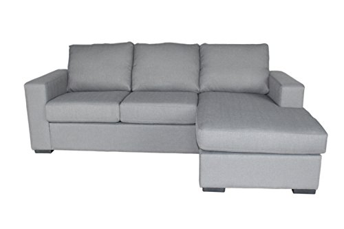 Carabelle LK6163GY Colton Indoor Sectional Sofa Bed