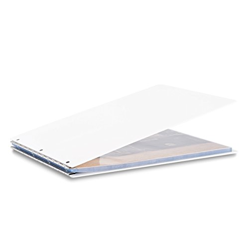 Pina Zangaro Vista A3 Landscape Screwpost Binder Snow, Includes 20 Pro-Archive Sheet Protectors (34078) by Pina Zangaro