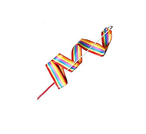 1 x Children Colorful Gymnastic Ribbons Rock Dancing Ribbon Stick Buckdirect Worldwide Ltd.