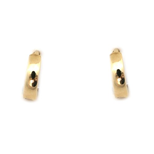 14k Yellow Gold Small 9mm Polished Huggie Earrings