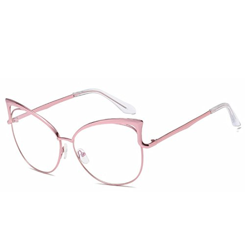 Frame Color Frame Lady Lunettes Lens Silver Glasses Soleil Lens Clear Pink Sakuldes de Clear RP0gqtX