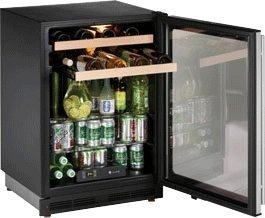 Solid Door Center Beverage (16 Bottle Single Zone Wine Refrigerator Hinge Location: Reversible, Lock: No)