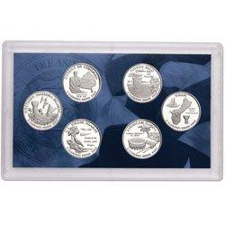 2009-S US MINT -- DC & US TERRITORIES QUARTER PROOF SET -- 6 PROOF CLAD COINS ()