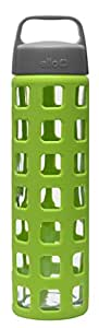 Ello PURE 20oz Glass Water Bottle (Lime)