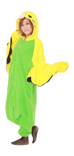 Tieroutfit, Schlafoverall, Kostüm, Hausanzug, Jumpsuit, Strampler Erwachsene Funzee FUNZOO (Wellensittich) Einheitsgröße