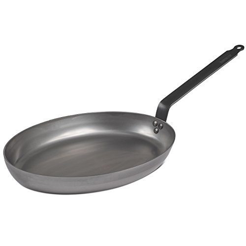 DeBuyer Heavy Oval French Steel Fry Pan - 16-in -