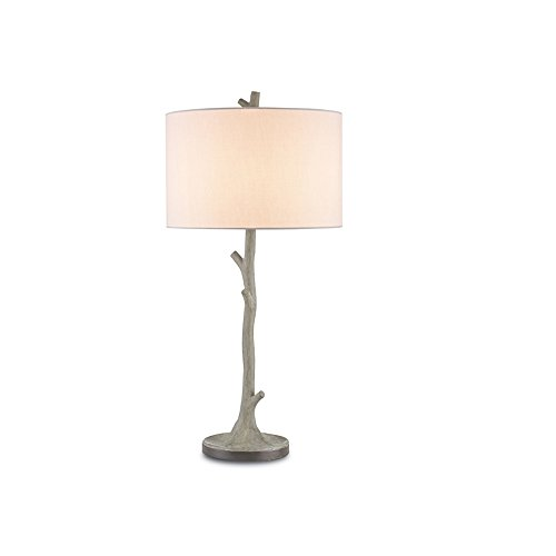 Currey and Company 6359 Beaujon - One Light Table Lamp, Portland/Aged Steel Finish with Off White Linen ()