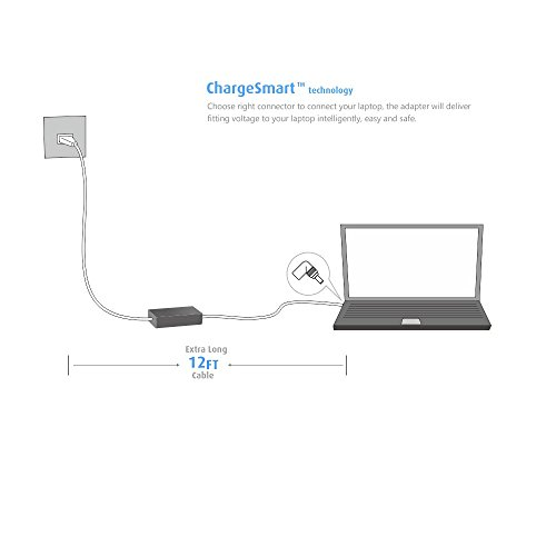 Belker 70w Universal Laptop Charger Ac Adapter Adaptador de corriente para HP Dell Acer Asus Lenovo IBM Toshiba Compaq Samsung Sony Fujitsu Gateway Notebook Ultrabook