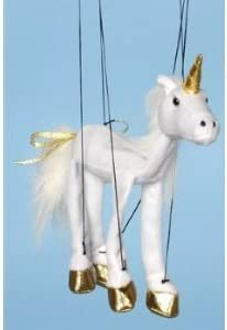 Magical Horse (White Unicorn) Small Marionette