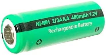 3 Pi/èces Rechargeable NiMH 1,2 V 2//3AAA 400 mAh Dessus Plat batterie