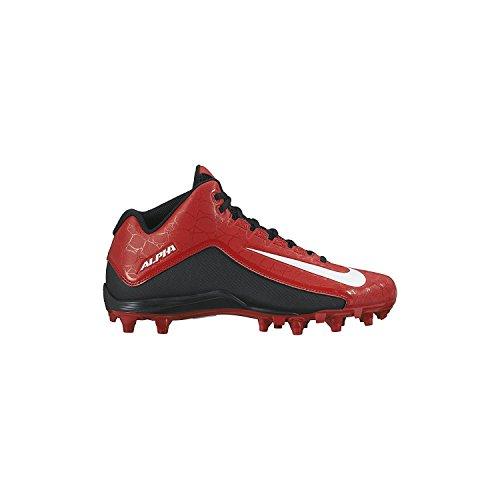 Nike Herren Alpha Strike 2 Dreiviertel Fußballschuh Universität Rot / Schwarz / Weiß