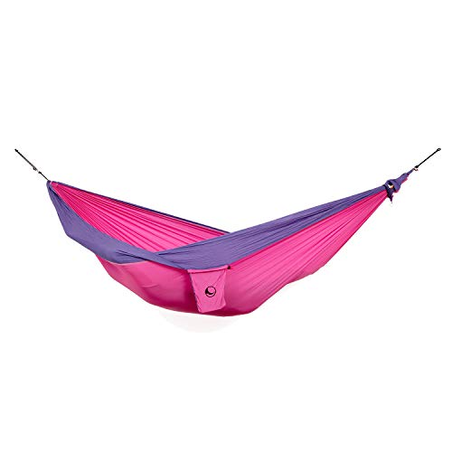 TICKETTOTHEMOON Ticket to The Moon King Size Hammock + Express Bag + S-Hook | 320x230 cm (Pink/Purple) (Hammock Ticket To The Moon)