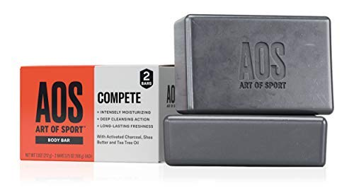 Art of Sport Body Bar Soap, Compete Scent, with Activated Charcoal, Tea Tree Oil, and Shea Butter, 3.75 oz