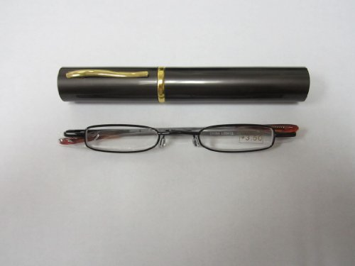 Tube Readers- Black Frame with Gray Case