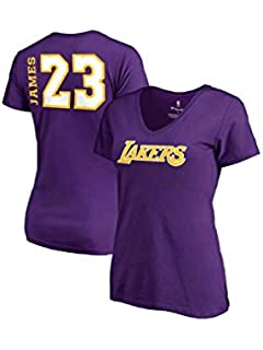 df55c7b30 Fanatics Women s Los Angeles Lakers Lebron James Side Sweep Player V-Neck -  Purple