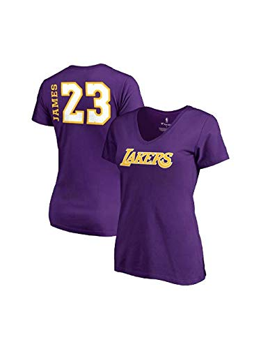 df987fb3f Fanatics Women s Los Angeles Lakers Lebron James Side Sweep Player V-Neck  Small Purple