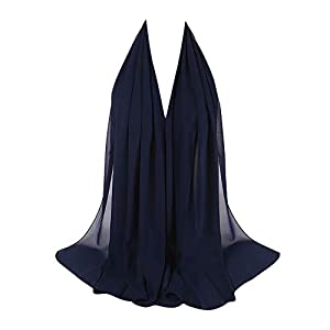 Goldweather Women Crinkle Cloud Hijab Scarf Lightweight Chiffon Muslim Islamic Long Hejab Head Wrap Shawls