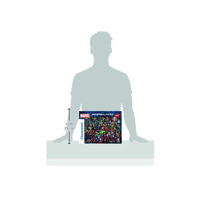 31Qcqzuzj5L Puzzle adulto 1000 piezas, con láminas de alta calidad de impresión, y troquelado preciso; con los personajes de Marvel y sus superhéroes Un Puzzle de vívidos colores, y alta calidad, para poderlo montar y desmontar cuantas veces se desee Favorece la concentración y las habilidades manuales