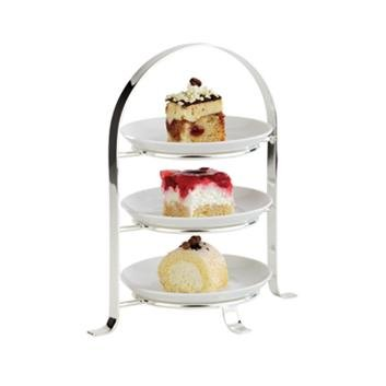 (M33216) 3 TIER CHROME SERVING STAND (MAX 17CM PLATES- PLATES NOT INCLUDED  sc 1 st  Amazon UK & M33216) 3 TIER CHROME SERVING STAND (MAX 17CM PLATES- PLATES NOT ...