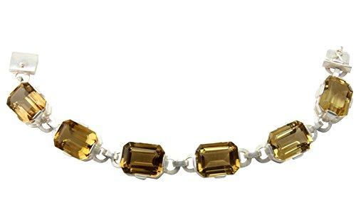 SKIELKA DESIGNSCHMUCK Citrin Armband Silber Goldschmiedearbeit (Sterlingsilber 925) - Silberarmband mit Citrin - Citrinarmband mit Expertise