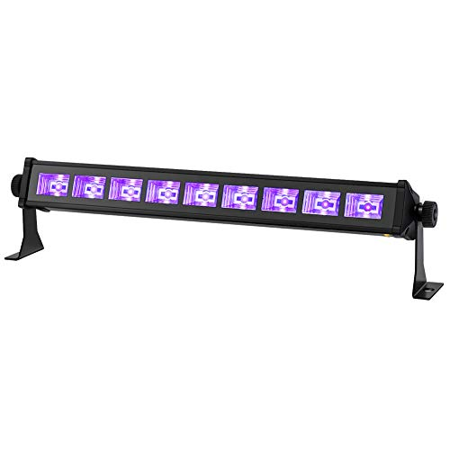 Black Lights, YeeSite 27W 9LEDs UV Light Bar Fit for 15x15ft Glow in The Dark Party Supplies Birthday Body Paint Blacklight Party Decorations