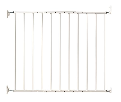 Command Pet Wall Mounted Gate, 31″ H/24.75″-42.5″, White
