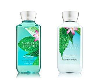 Bath & Body Works Eucalyptus Spearmint Body Lotion and Shower Gel Gift Set
