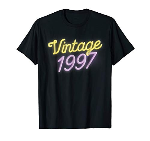 Vintage 1997 T-Shirt - Retro Neon Colors 21st Birthday Gift