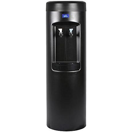 Bottleless Water Cooler Dispenser W 3 Stage 10 Standard Housings BLACK Room Temp Cold