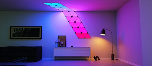 Nanoleaf Bundle, Nanoleaf Aurora Modular LED Lights (9 Lights plus Controller) plus Nanoleaf Expansion Pack (3 Lights) plus 36 Design Inspirations by Nanoleaf (Image #1)