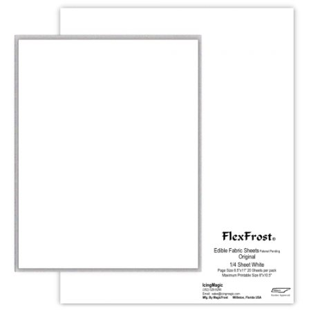 (Oasis Supply Magic FlexFrost Edible Image Fabric Icing Sheets - 20 Pack (White))