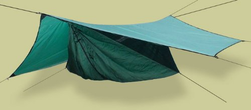 Hennessy Hammock Safari Deluxe Asym Zip with Tree Straps and Rainfly, Outdoor Stuffs
