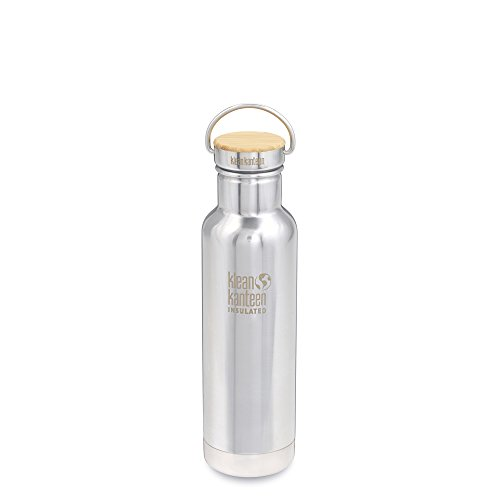Klean Kanteen Insulated Reflect Water Bottle, Mirrored Stainless, 21 oz